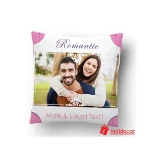 personalized couple print cushion
