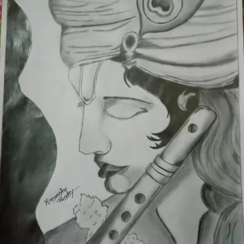 Lord Krishna Sketch Size A4 Rs 200 Set Sketch Gallery Id 21427294133