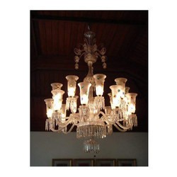 24 Arm Frosted Glass Chandelier