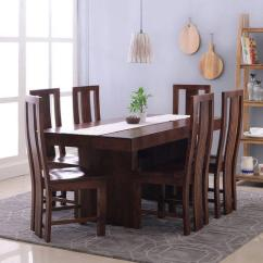 Dining Table Set 6 Chairs Amazing Pocket Chair Brown Wooden Rs 80000 Hekami