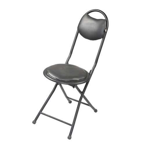 folding chair round breakfast room chairs mild steel black capacity 50 to 80 kg rs 425
