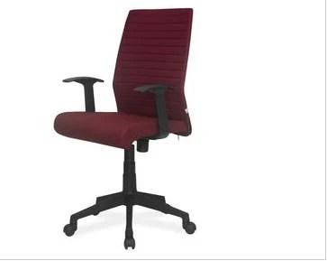 revolving chair thames double glider nursery nil kamal fabric mid back maroon super service