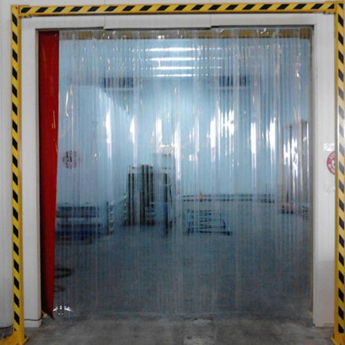 Blue PVC Strip Curtains Thickness 2 Mm 3 Mm For Industrial Rs 80 square feet  ID 14610549433