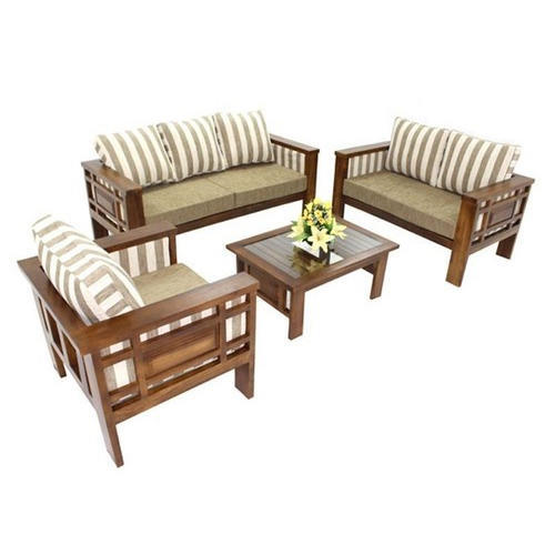 wooden sofa living room how to decorate a long brown set rs 45000 green tech