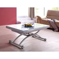 space saving glass top expanding coffee table to dining table glory