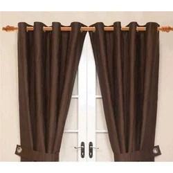 wood finish curtain rod