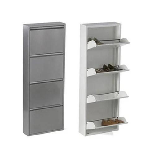 4 door wall mounted shoe rack