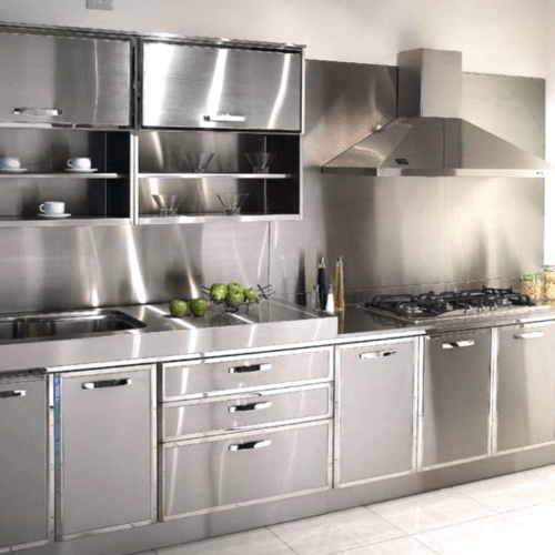 Modular Stainless Steel Kitchen Cabinet At Rs 14000 Unit Ss
