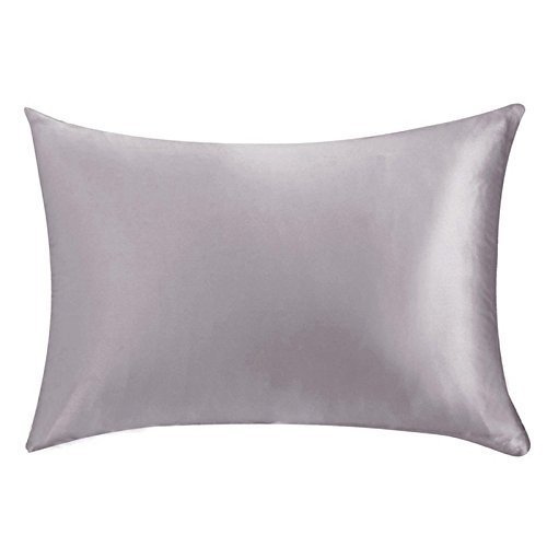ocamo 19 momme pure mulberry silk pillow cases solid color cushion covers with zipper closure