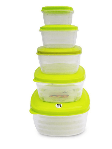 green zomaark paras microwave safe plastic square bowl package container