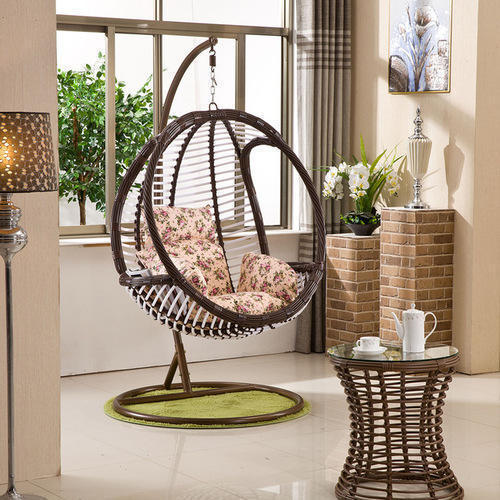 hanging swing and patio furniture