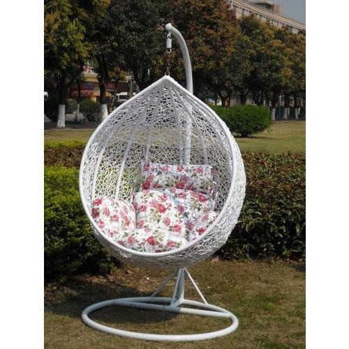 basket swing chair india vitra ergonomic wrought iron white modern rs 12500 piece young