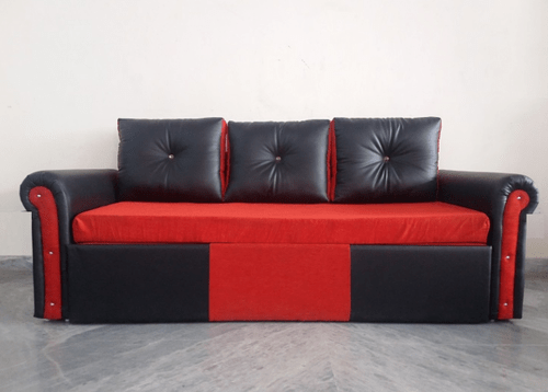 orange and black sofa bed dry clean cushions red cum at rs 18000 piece id