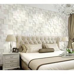 White Vinyl Bedroom 3d Wallpaper Rs 75 Square Feet M S R D Sons Enterprises Id 18951773791