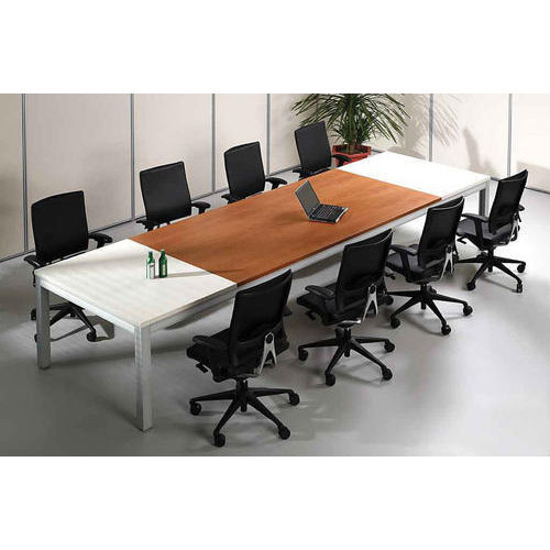 Brown And White Metal Modern Conference Room Table Size