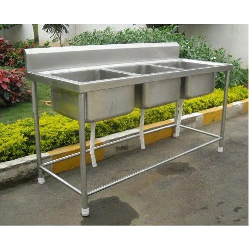 triple kitchen sink countertop decor balaji bowl rs 29000 piece engineering