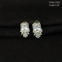cz earrings american diamond