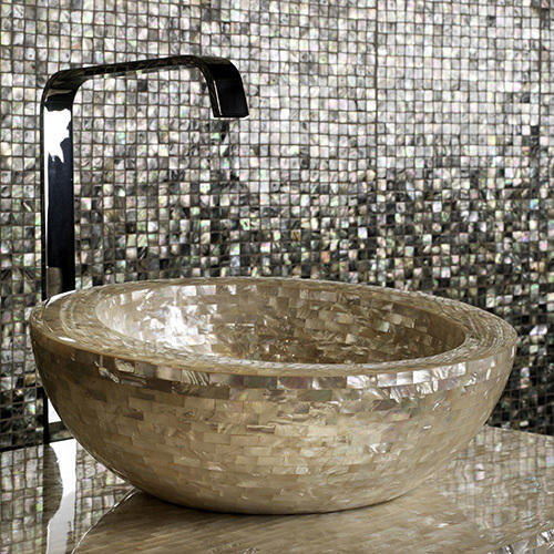 sea shell mother of pearl wash basin