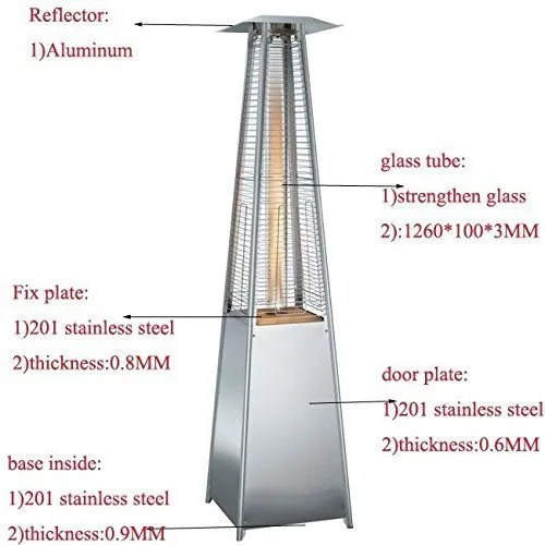 outdoor tower pyramid heater