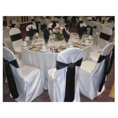 Black Banquet Chair Covers For Sale Lounge Chairs At Target And White Linen Cover With Bow Rs 250 Piece