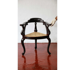 Wooden Corner Chair Waffle Cushion Antique Replica Anjili And Wild Rose Wood Heritage Product Image