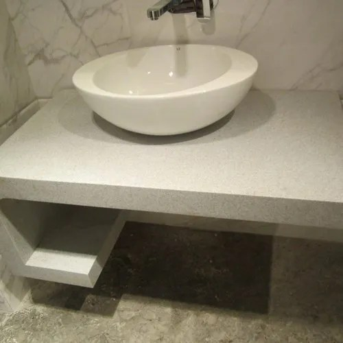 White Cbc 14 Corian Bathroom Counter Rs 700 Square Feet P2k C Reations Enterprises Id 21572459612