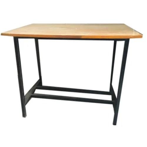wooden top mild steel table