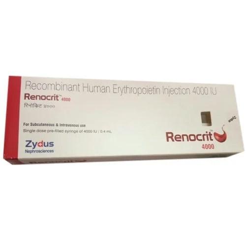 Renocrit 4000 IU Erythropoietin Injection 4000/0.4 Ml ...