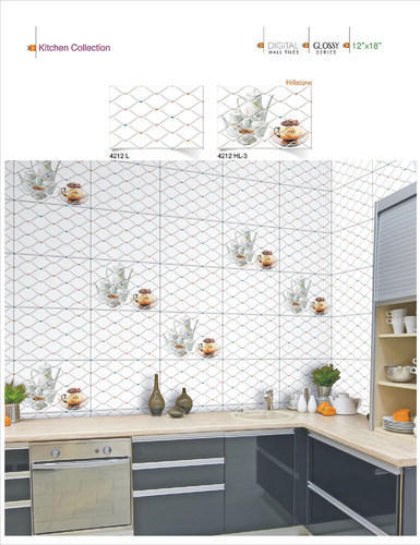 kitchen wall tiles picture ceramic 18x12 digital no 4212 0 5 mm rs 215