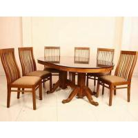 Brown Teak Wood Dining Table Set, Rs 60000 /set, Zeeshan ...