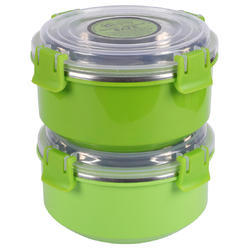 stainless steel microwave safe lunch container 500 ml set of 2