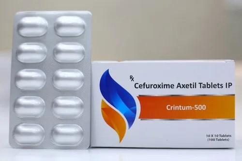 Crintum-500 Cefuroxime Axetil Tablets IP 250/500 mg. | ID: 20997844197