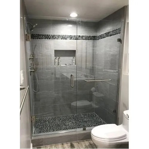 Bathroom Glass Partition Size Dimension 6 To 7 Feet Height Rs 23000 Unit Id 11979309788