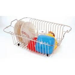 kitchen drainer basket pantry cabinet lowes sink dish pragati
