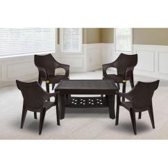 Resin Table And Chairs Set Comfortable Computer Chair Brown Anmol Plastic Industries Id 17278529012