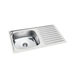 Kitchen Sinks With Drain Boards Wood Floors Stainless Steel 45x20x8 Amc Single Bowl Sink Board Rs