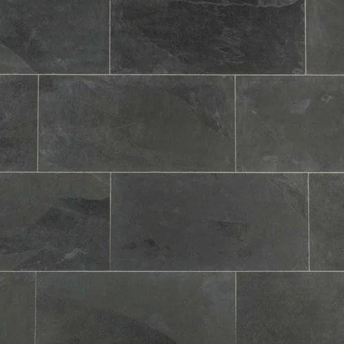 polished black slate tile