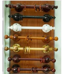 solid wood curtain rod