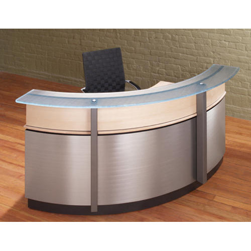 White Round Reception Desk Rs 12000 piece Ekjot