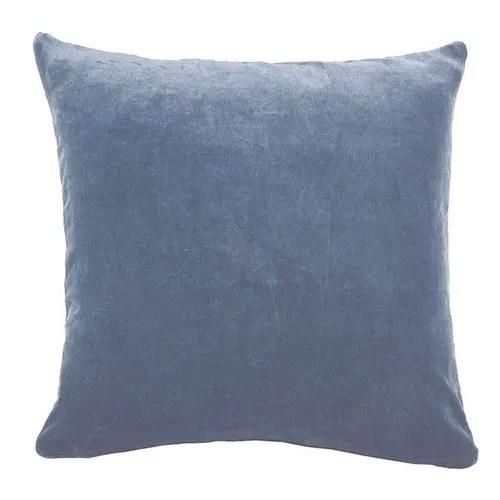 designer plain cotton velvet pillow cover