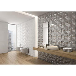 Ceramic 3d Bathroom Wall Tiles 8 10 Mm Rs 20 Square Feet Maha Laxmi Tiles Sanitary Id 17962193497