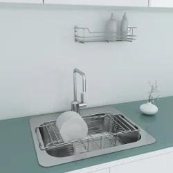 royle home silver dish utensil drainer