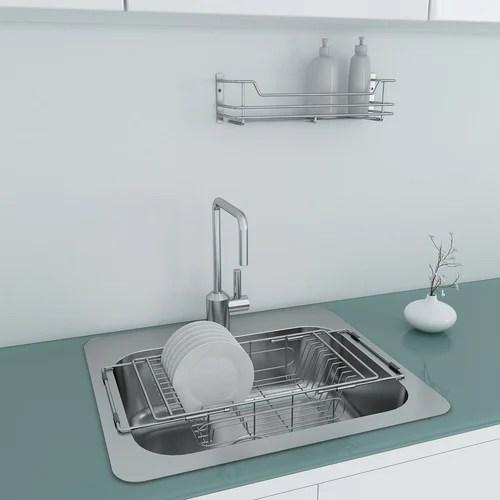 portable sink dish drainer basket wire base