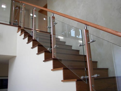 Wooden Glass Railing Glass Staircase Railing कांच की   Staircase Handrails With Wood And Glass   Tempered Glass   Glass Panel   Wooden   Glass Printing   Solid Wood
