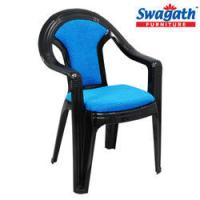 Cushioned Chair With Arms - PLUSH Red Cushioned Plastic ...