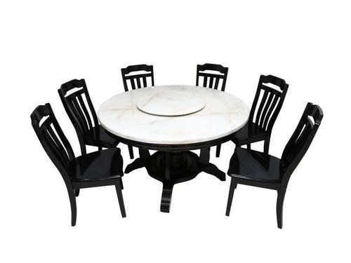 Wooden 6 Seater Round Dining Table Sets Rs 104181 Piece Mobel India Private Limited Id 14160832988