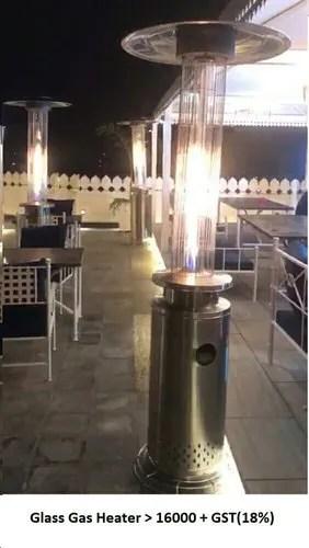 gas glass patio heater