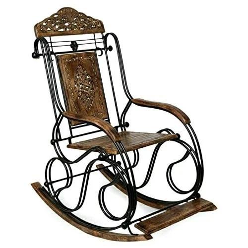 rocking chair height stressless squeaks iron brown 4 feet rs 6500 piece ganga wood