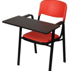 Portable Study Chair Swivel Rocking Chairs For Patio Fibre Seat Back F 10 With Writing Pad Foldable