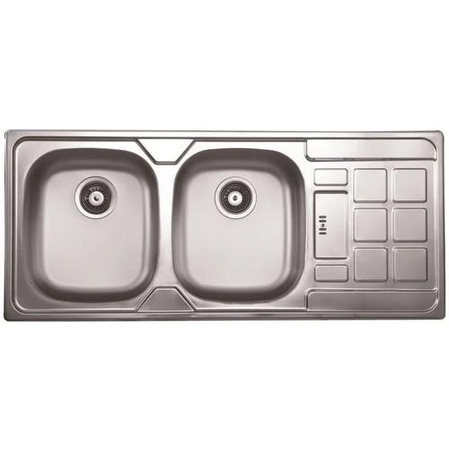 dual bowl kitchen sink